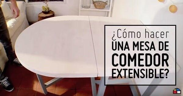 V deo c mo hacer una mesa de comedor extensible - Como hacer una mesa de comedor ...