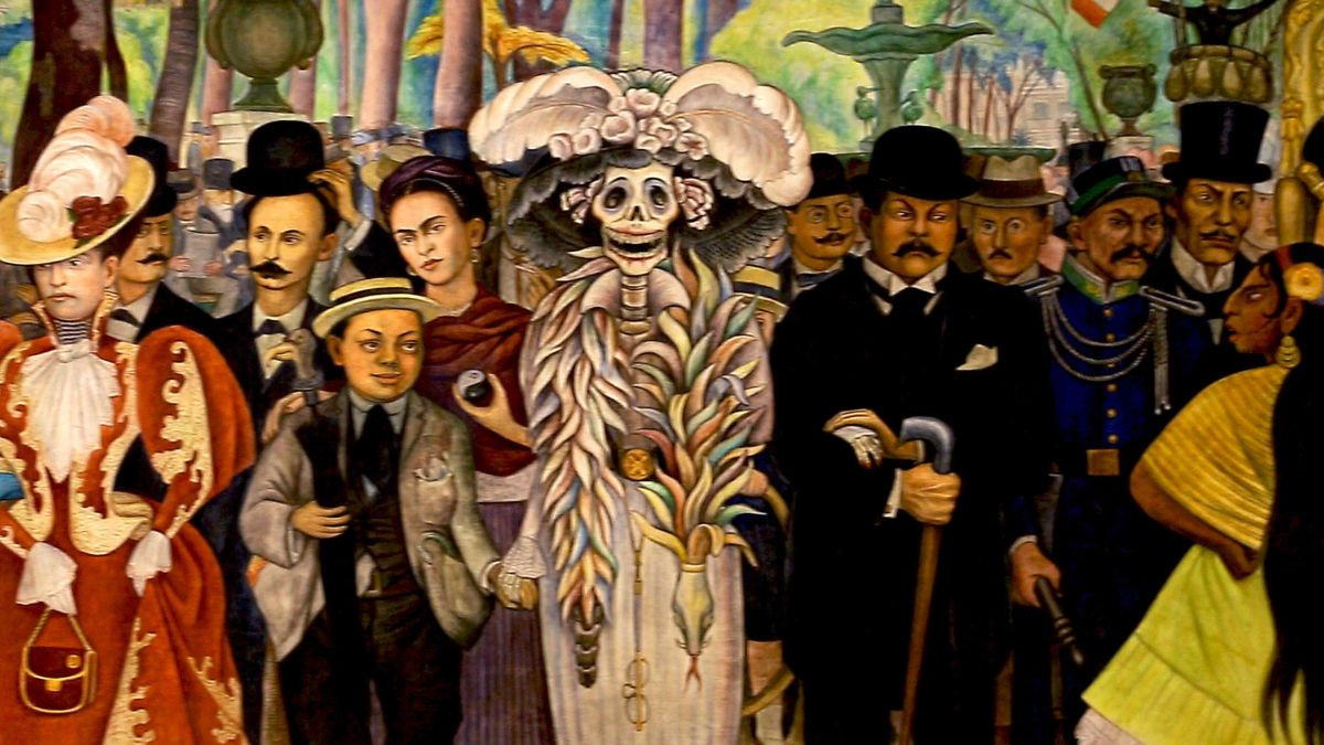 Pintura de la Catrina de Diego Rivera