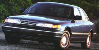 Manual Ford Crown Victoria 1996 Reparación y Servicio