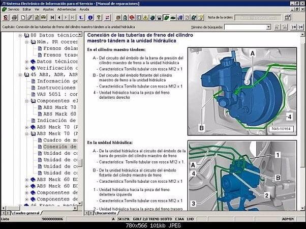 Manual Audi Q2 2010 Reparación y Servicio de Frenos, Ajustadores, Balatas, Boosters, Bujes de Caliper, Discos de Frenos, manguera de frenos, resortes de balatas
