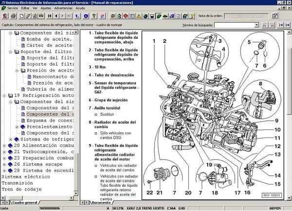 Manual Audi Q2 2010 Reparación y Servicio de Motor, Pistones, bielas, juntas, soportes, cabeza, bujias, filtro de aire, filtro de gasolina, filtro de aceite
