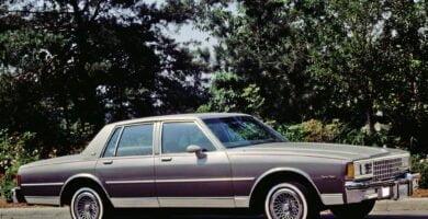Manual CAPRICE 1980 Chevrolet PDF Reparación Taller