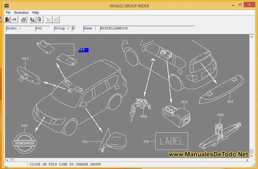 Recambios para Nissan Tsubame 2003