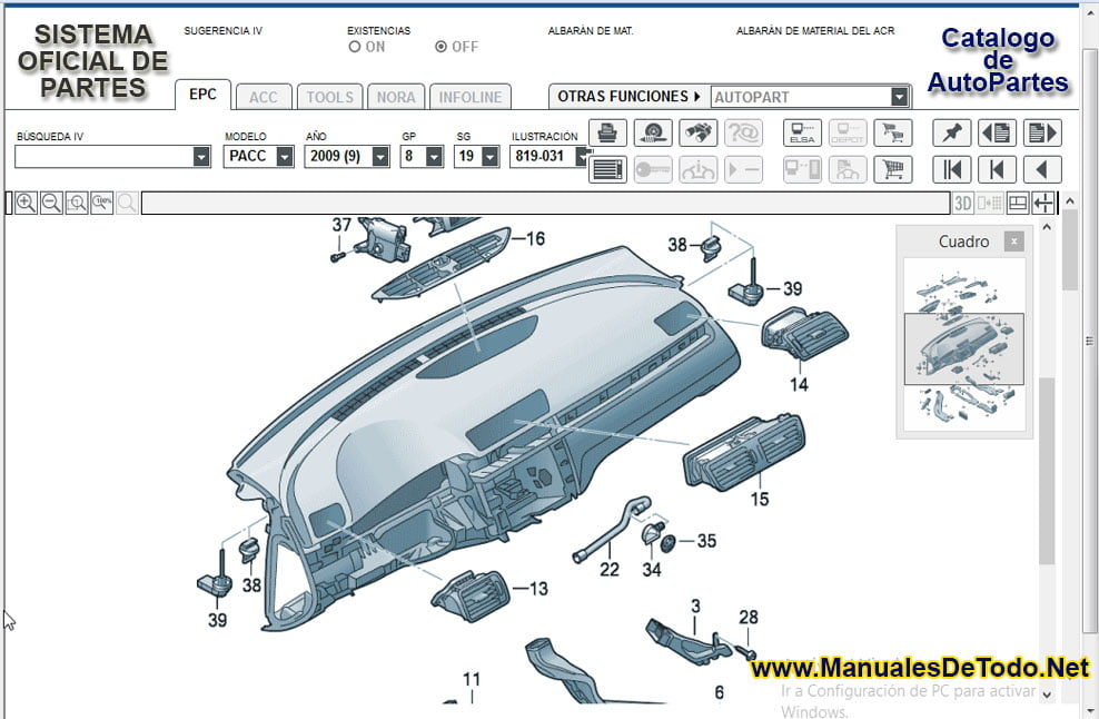 Refacciones para el Motor de Volkswagen Routan 2014