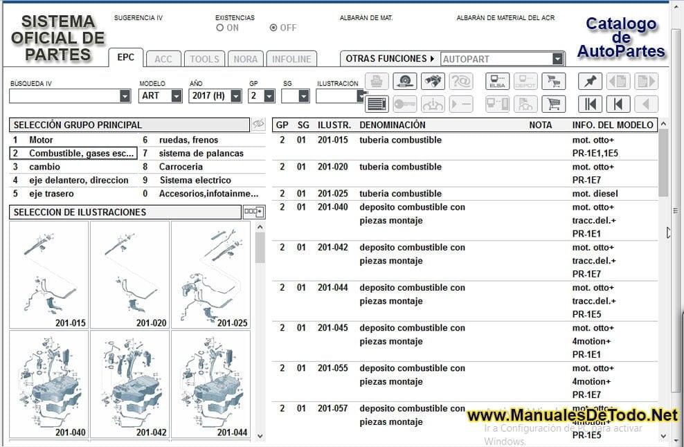 Consultar Refacciones Eléctricas en ETKA