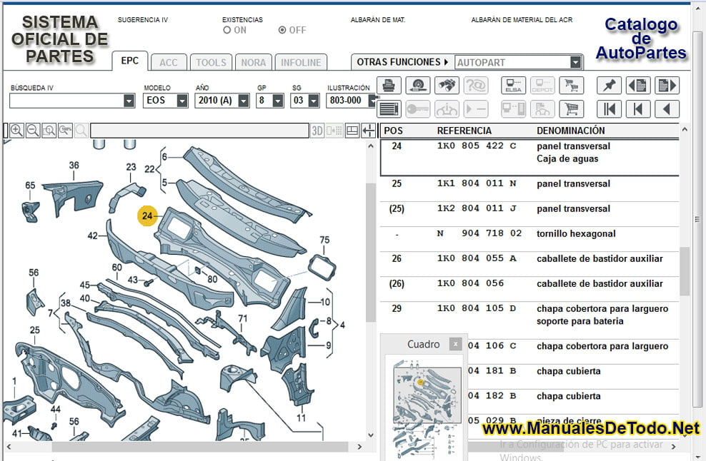 Sensores para Volkswagen Pointer Station Wagon 2005