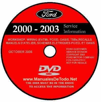DVD Ford TIS Technical Information System 2000-2003