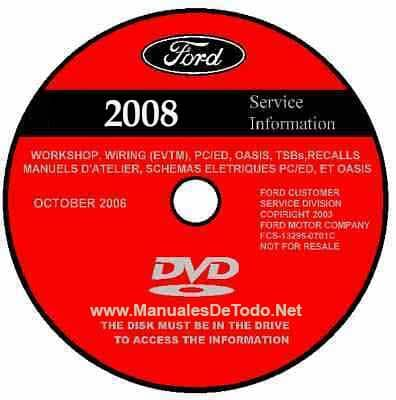 DVD Ford TIS Technical Information System 2008