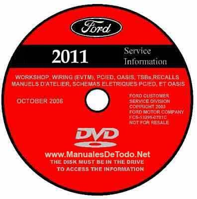 DVD Ford TIS Technical Information System 2011