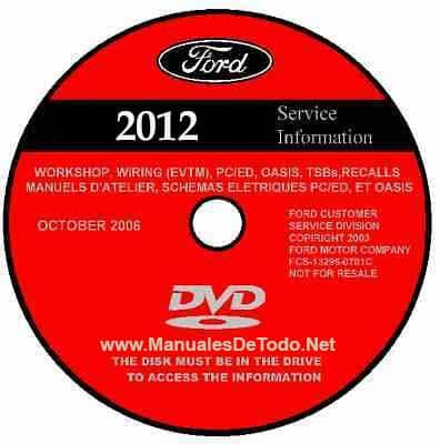 DVD Ford TIS Technical Information System 2012