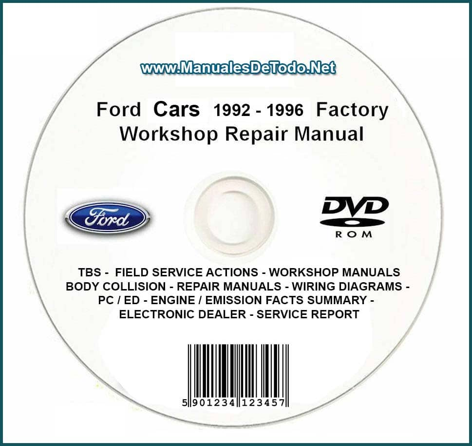 DVD Ford TIS Technical Information System 1992-1996