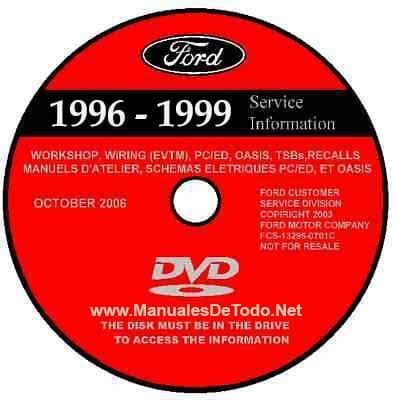 DVD Ford TIS Technical Information System 1996-1999