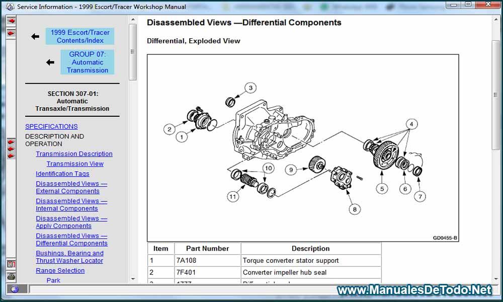 Motor Sistema de Emisiones Autos Ford