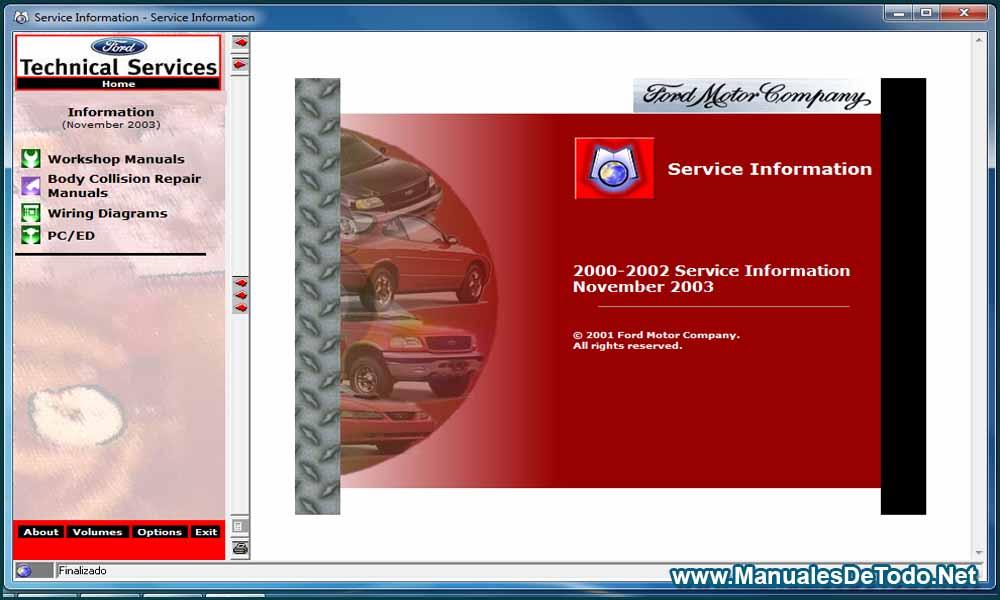 Ford TIS 2000-2003 Sistema de Información Técnica Manuales
