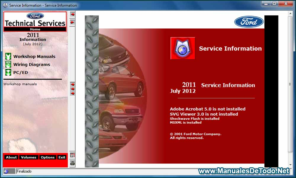 Ford TIS 2011 Sistema de Información Técnica Manuales