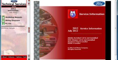Ford TIS 2012 Sistema de Información Técnica Manuales