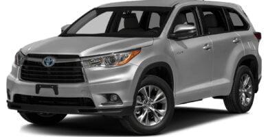 Manual Toyota Highlander Hybrid 2016 de Usuario