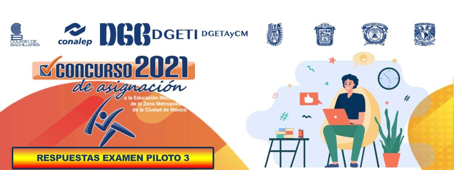 3er Examen Piloto Resuelto del Comipems 2021