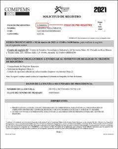 Solicitud de Pre-Registro Comipems 2021