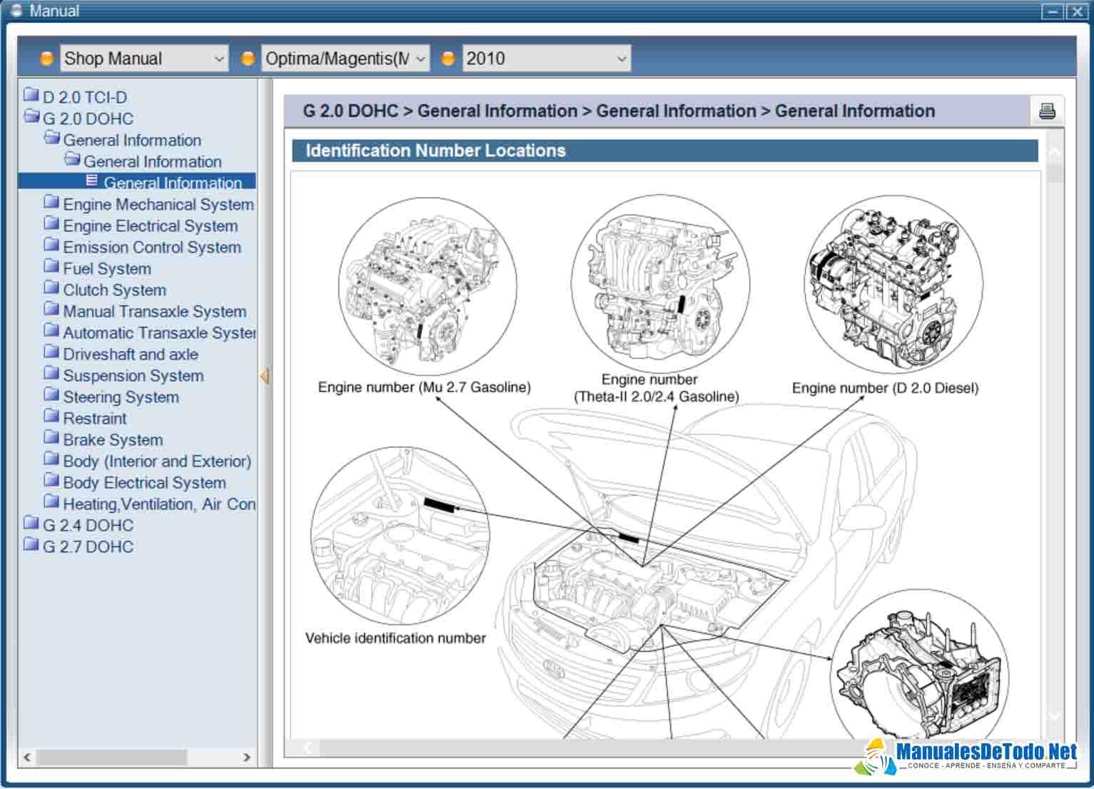 Manual de Reparación KIA Sportage 2000